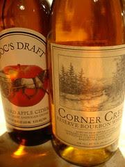 1 cider, 1 bourbon, 1 bottle of cachaça (not pictured)