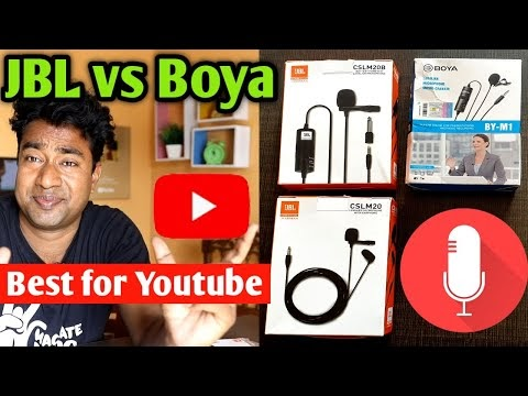 JBL Vs BOYA Microphone for Youtuber ! Review & Full Comparison with Audio Quality Test - Best Mic ?