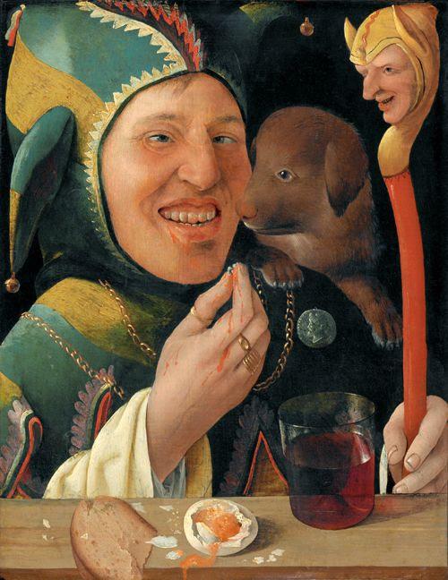 bufón payaso medieval, espectáculo