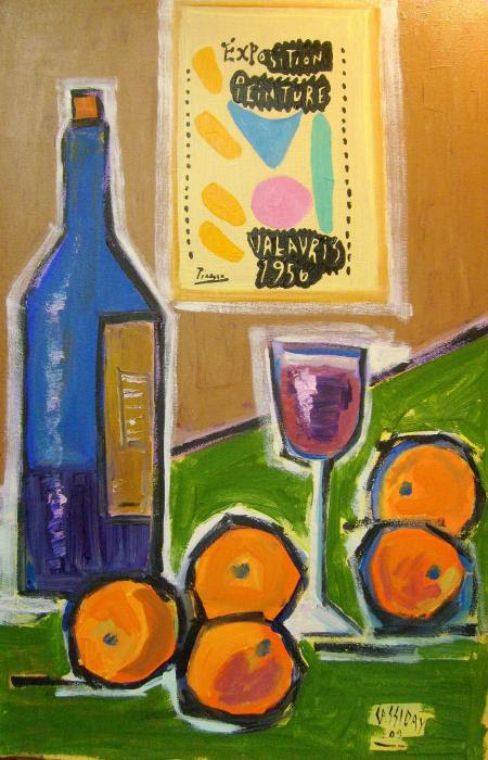 wine glass still life oranges poster picasso colorful fruit paintings