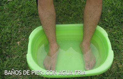 baños de pies con agua fria