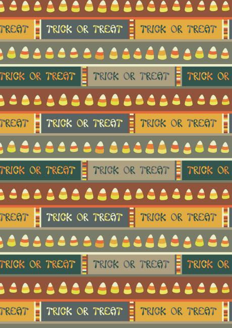 Halloween scrapbook paper trick or treat