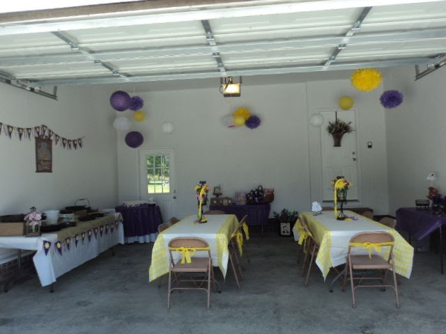 Garage party decorations   Tangled Birthday Party   Pinterest