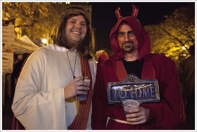 Jesus And Satan Have A Drink