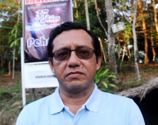 DANIEL DEL AGUILA. Actual gerente del Proyecto Huallaga