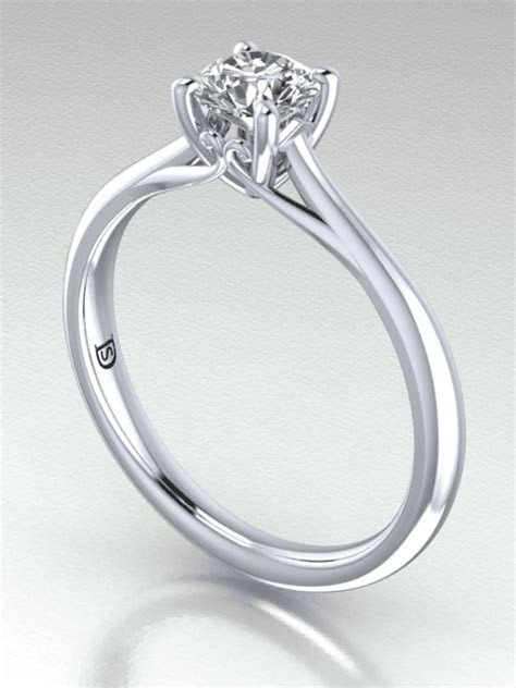 Cathedral Set Diamond Engagement Ring   Solitaire