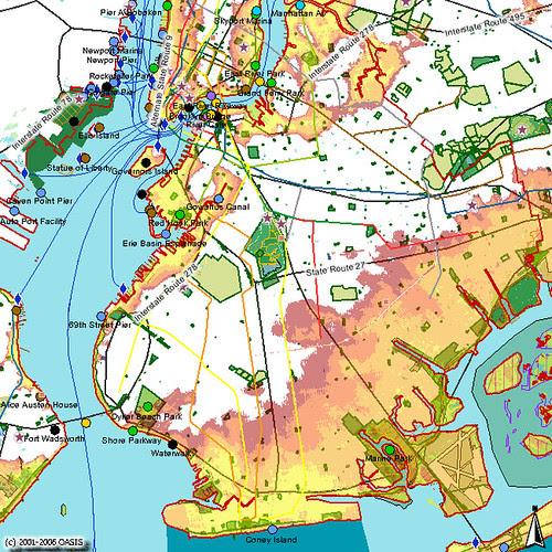 Brooklyn Category 1-4 Coastal Storm Impact Zones