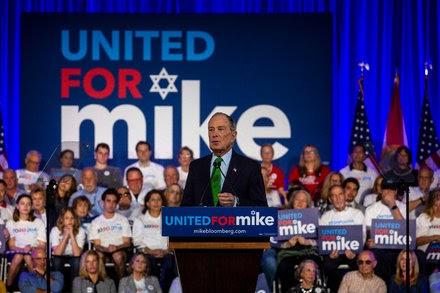 In Florida speech, Bloomberg warns about rising anti-Semitism.