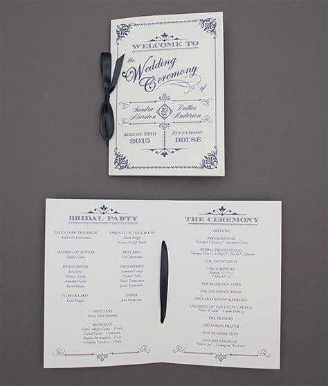 Ornate Vintage Type Wedding Program Booklet ? Download & Print