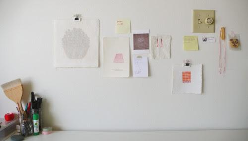 jungeun:my studioon Sunday afternoon. .