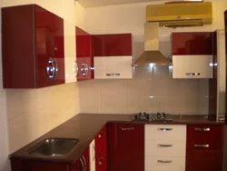 Modular Kitchen - High Gloss Polyester Kitchen Shutters, Designer