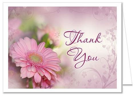 Gerbera Daisy Bridal Shower Thank You Cards