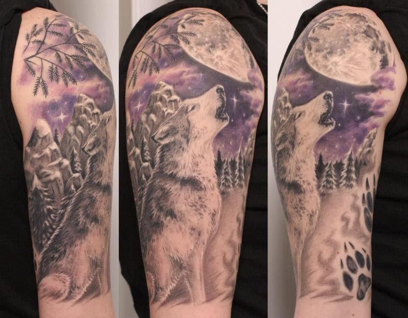 Biagios Tattoo Gallery Tattoos Nature Animal Lone Wolf