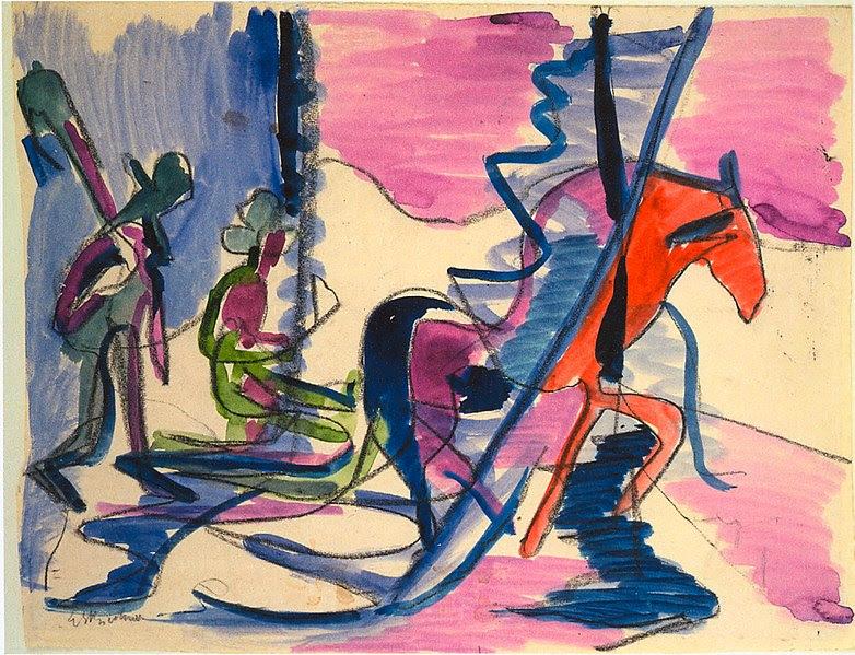 File:Ernst Ludwig Kirchner - Schlitten im Nebel - 1928-29.jpg