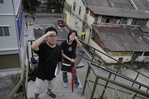 Me and Hui Jing, preparing a shot