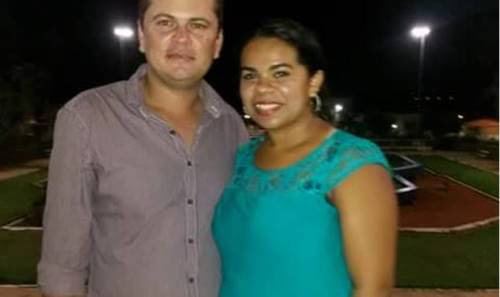 Vereador Adãozinho e a esposa (Foto: WhatApp)