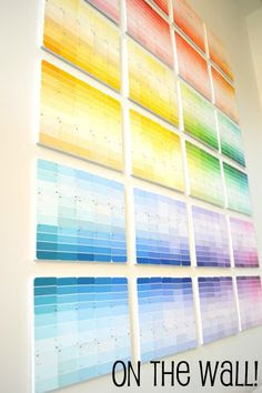 Paint Chip Wall on Pinterest