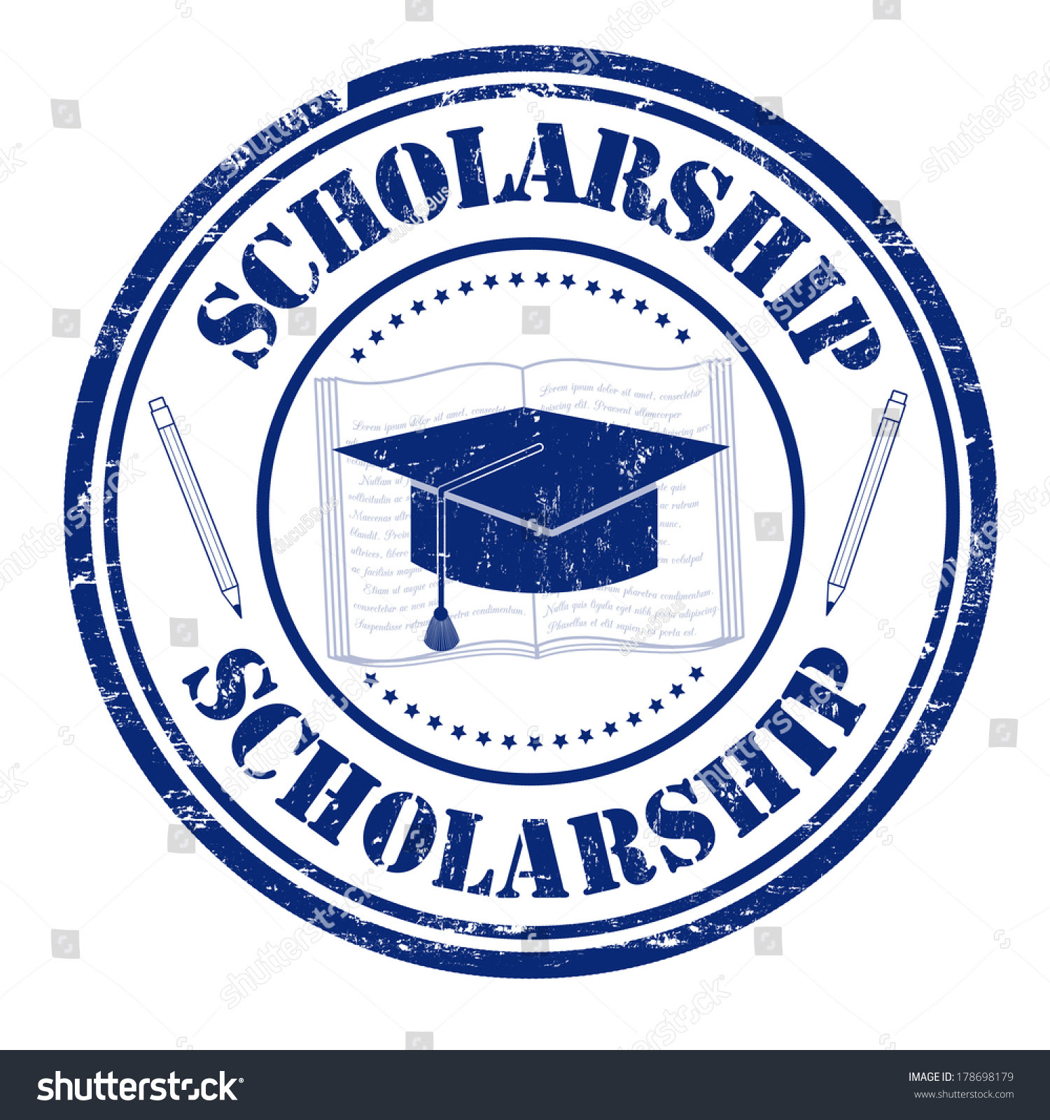 Scholarship Grunge Rubber Stamp On White Stock Vector ...