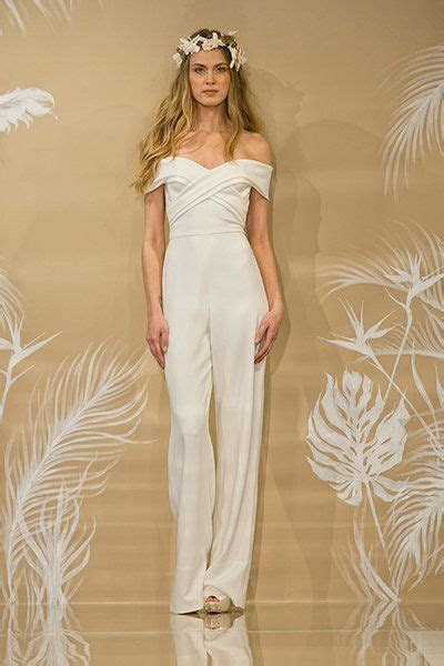 35 Gorgeous Pantsuits and Jumpsuits for Brides   Crepes