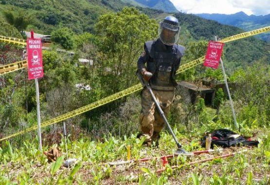 Colombia declara 37 nuevos municipios como libres de minas antipersonales