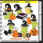 Halloween Frogs Clipart - CU