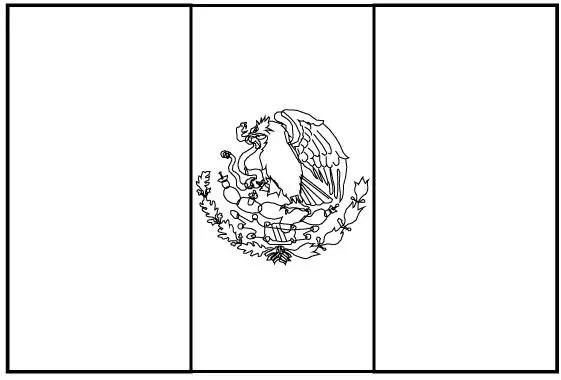 Bandera De Mexico Para Colorear E Imprimir