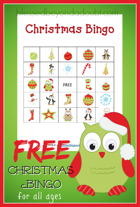 FREE Printable Christmas Bingo Cards| Fun for everyone