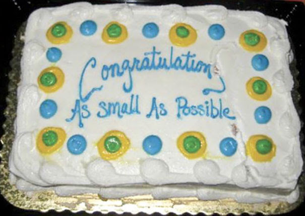 Congratulations As Small As Possible