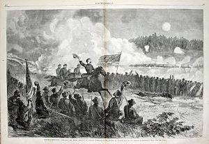 General Logan at the Battle of Dallas, May 1864.jpg