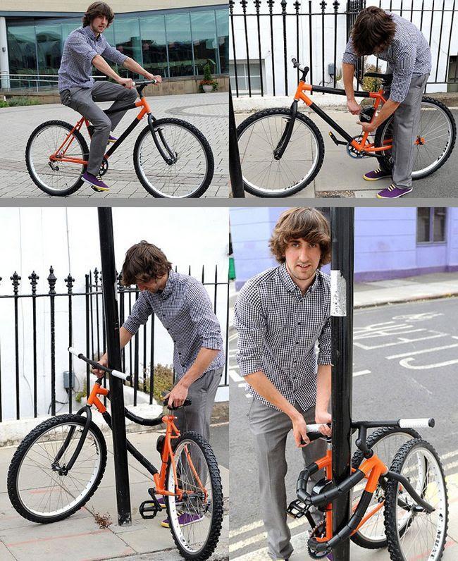 inventos increibles bicicleta flexible