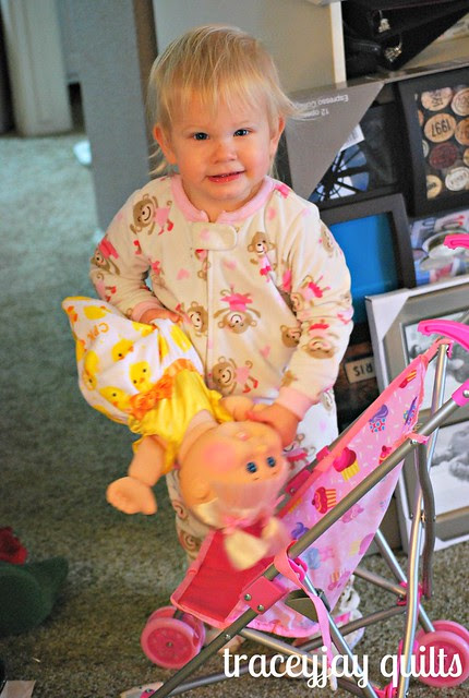 Scarlet and her dolly