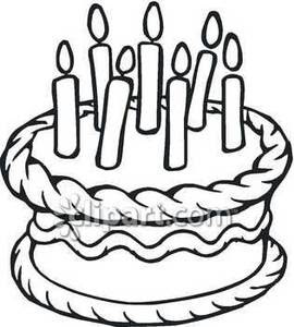 Happy Birthday Cake Clipart Black And White Free Clipartix