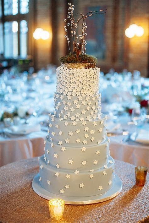 Whimsical, Baby Blue Wedding Cake