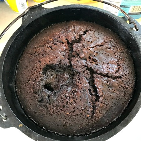Dutch Oven Chocolate Lava Cake | Happily Homegrown
