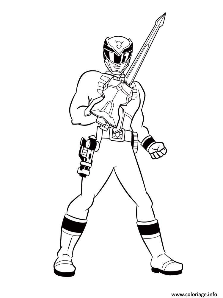 Coloriage Power Rangers Jungle Fury Avec Une Arme Jecoloriecom