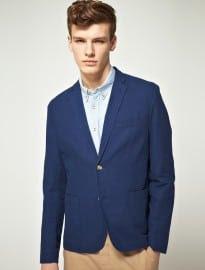 Asos Slim Fit Suit Jacket In Indigo