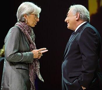 French Finance Minister Christine Lagarde (L) ...