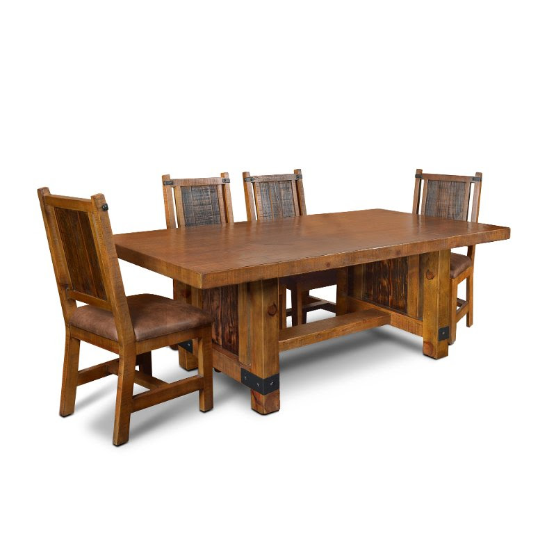 Rustic Pine 5 Piece Dining Set Big Timber Rc Willey Furniture Store