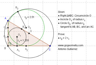 Online Geometry Problem 902: Triangle, Four Squares, Center, Concurrent Lines. GeoGebra, HTML5 Animation for iPad and more tablets