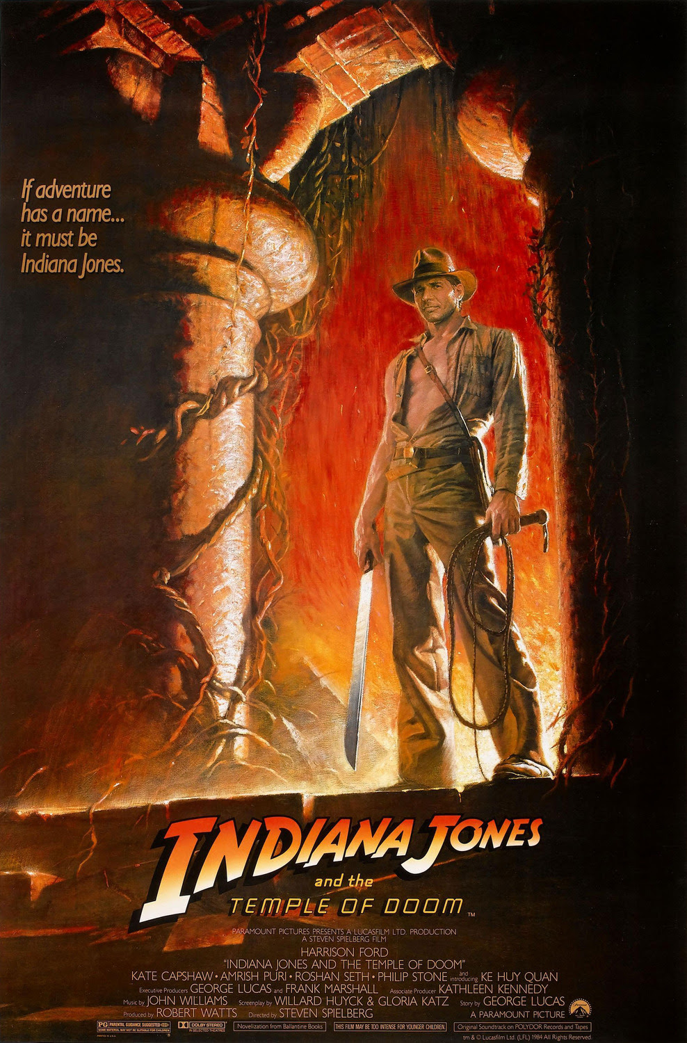Resultado de imagem para Indiana Jones and the Temple of Doom posters