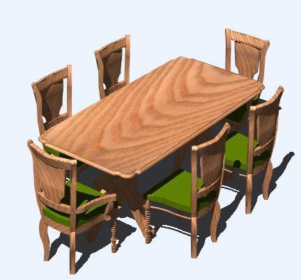 Planos De Juego De Comedor 3d En Sillas 3d Muebles Equipamiento