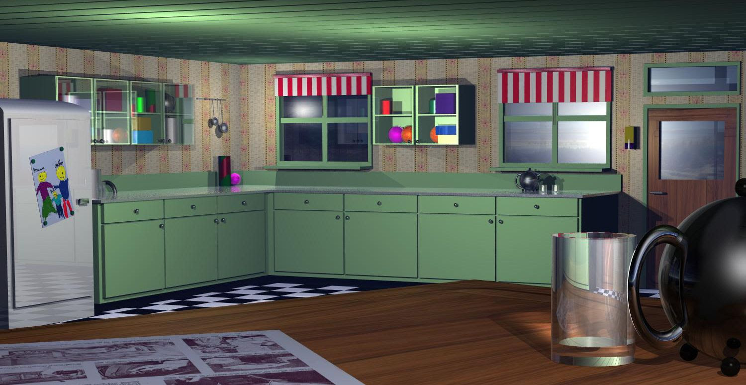 Yikes, those fifties picture, by robvdn for: kitchen 3D contest