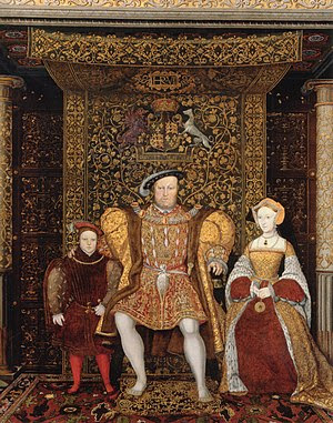 Detail of The Family of Henry VIII, now at Ham...