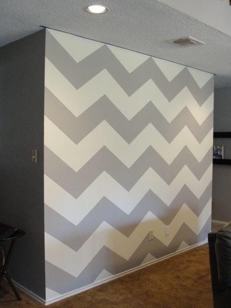 DIY chevron wall