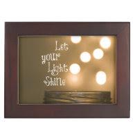 Inspirational Bible Verse Let your light shine Keepsake Box
