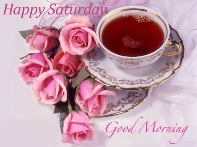 Pink Happy Saturday Good Morning Quote Pictures Photos And Images