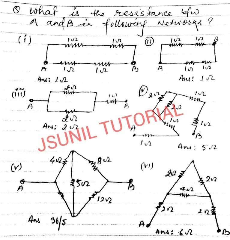CBSE PHYSICS: Trend Setter Chapter Electricity numerical