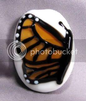 Monarch Butterfly Lampwork Bead by Ema K Designs