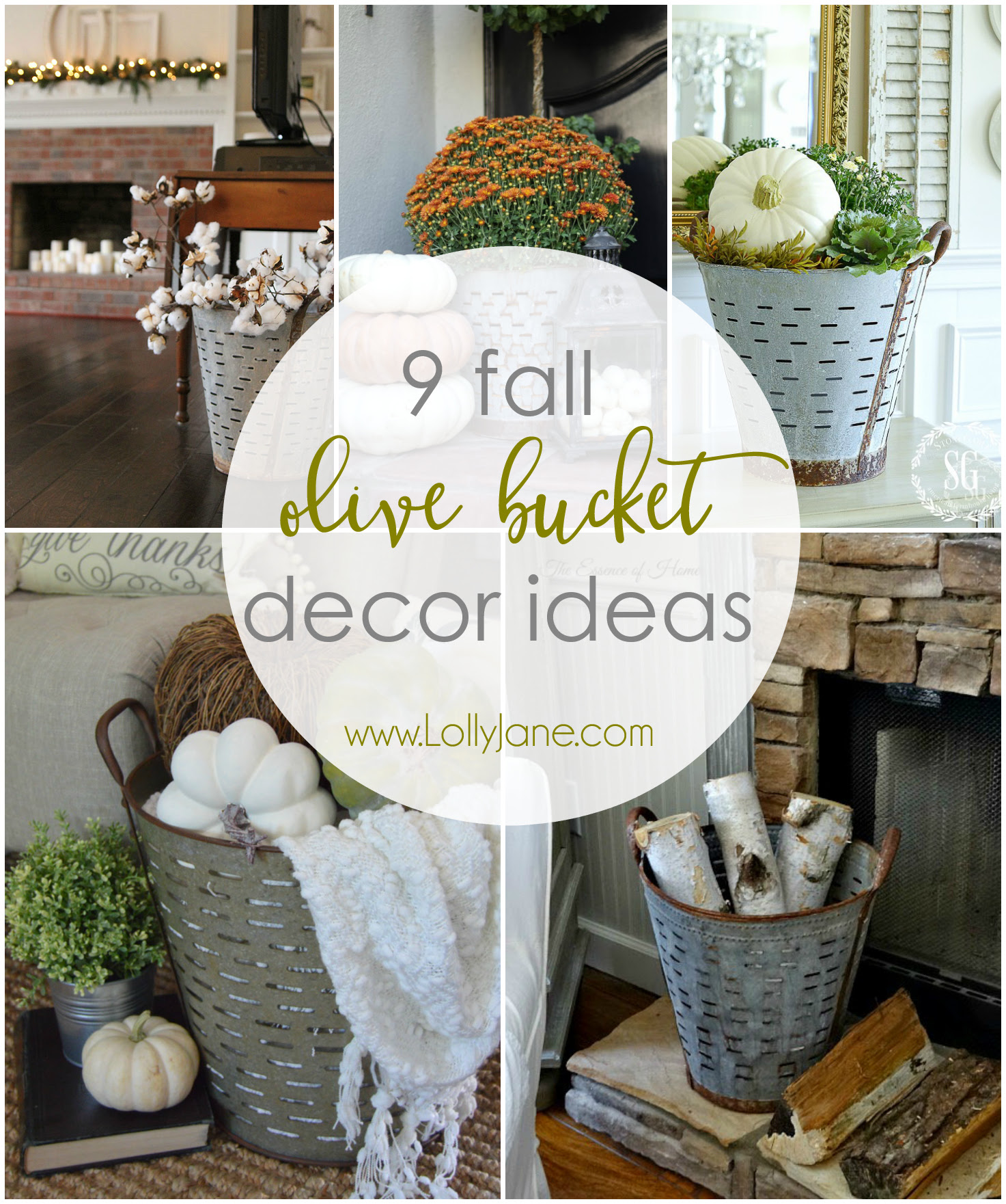9 Fall Olive Bucket Decor Ideas | Lolly Jane