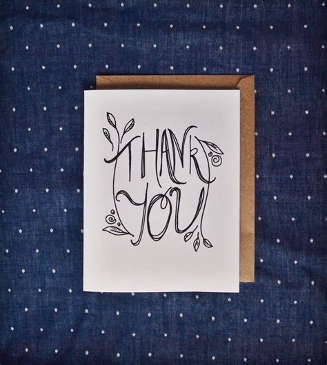 Thank You Card Thanks Thank you Thank you note handmade
